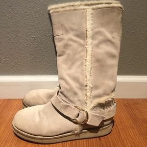 Guess Haverhill Suede Winter Boot, Size 6 1/2M